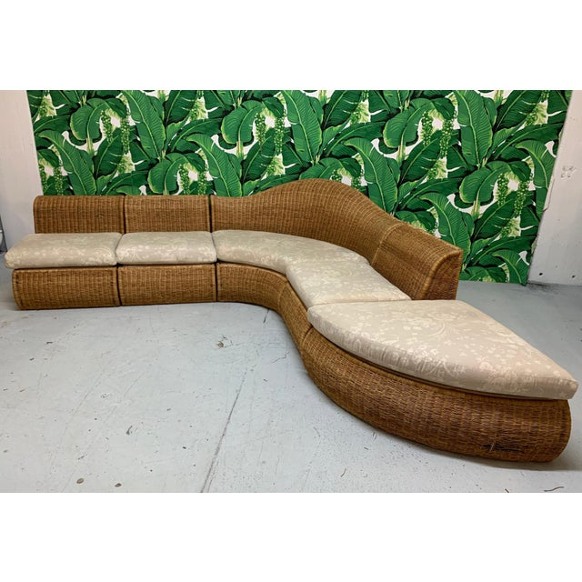 Large Sculptural Wicker Sectional Sofa For Sale - Image 13 of 13