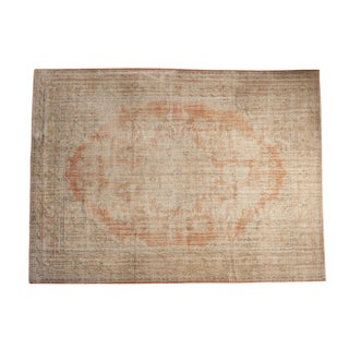 "Vintage Distressed Oushak Carpet - 7'4"" X 10'"