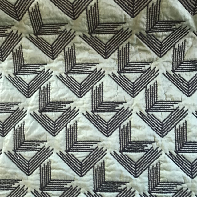 Miles Redd for Schumacher V Step in Loden Fabric- 2 Yards For Sale In Raleigh - Image 6 of 6