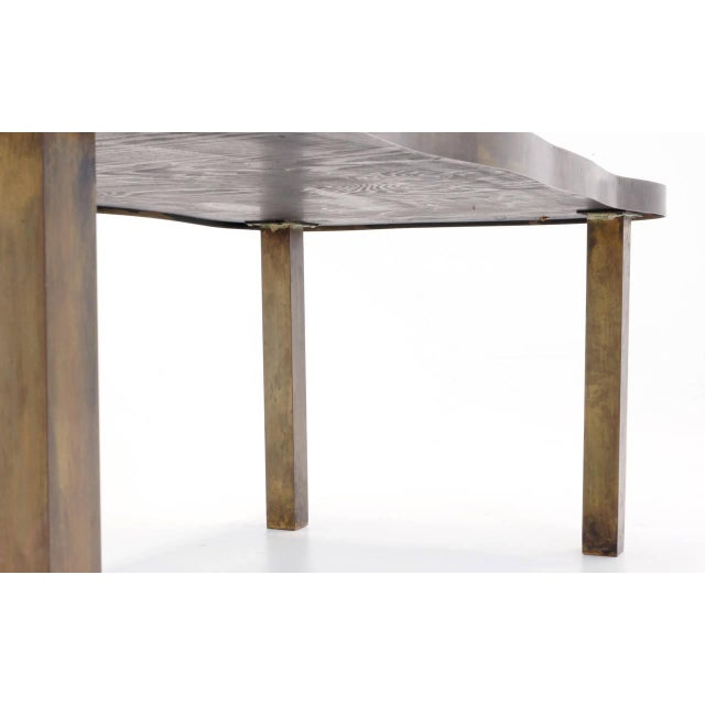 Brown Bronze Coffee Table by Philip and Kelvin LaVerne For Sale - Image 8 of 10