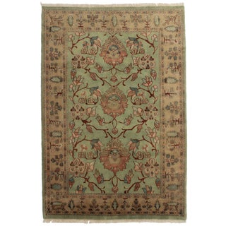 """Hand Knotted Wool Rug - 6' X 8'9"""" For Sale"""