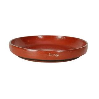 Vintage Tibetan Wood Plate For Sale
