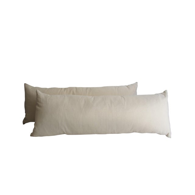 Cream Bolster Pillows - Pair - Image 1 of 6