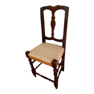 Early 19C Continental Baroque Style Side Chair For Sale