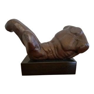Bronze Male Torso Sculpture