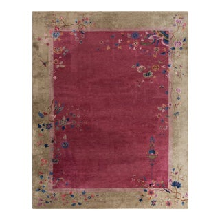 """Antique Chinese Art Deco Rug 9'0""""x11'6"""" For Sale"""