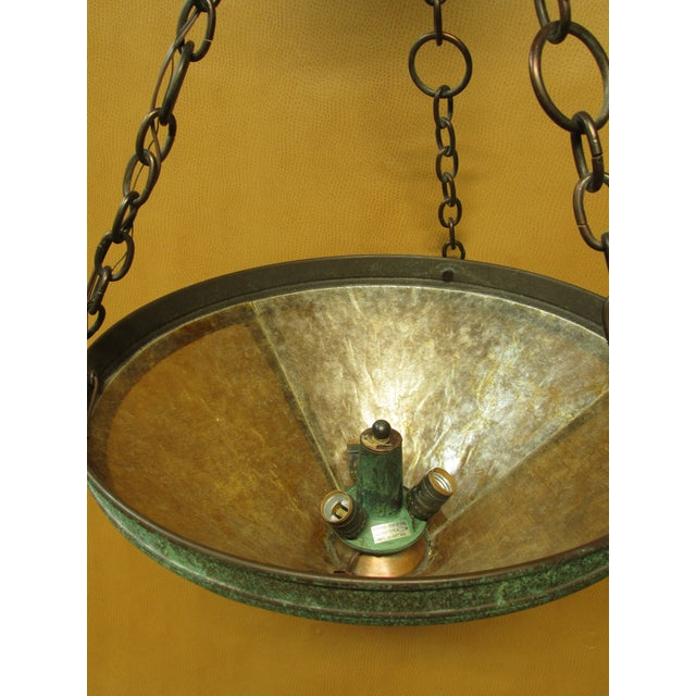 Arts & Crafts Vintage Arts and Crafts Mica Mesa Pendant Lamp For Sale - Image 3 of 10