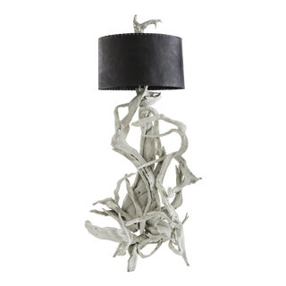 Vintage Driftwood Floor Lamp For Sale