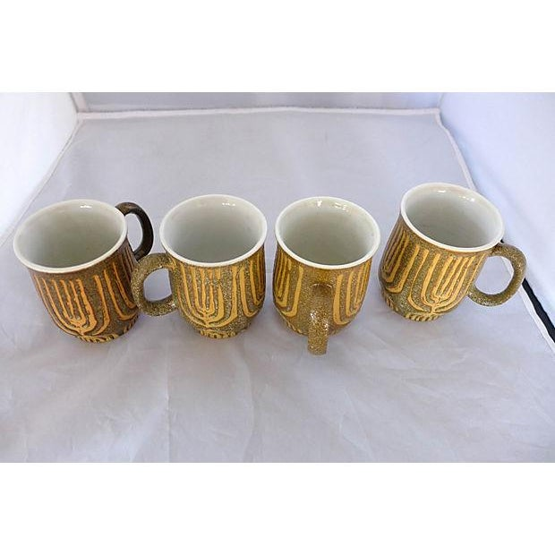 Mid-Century Rustic Coffee Mugs - Set of 4 - Image 3 of 6