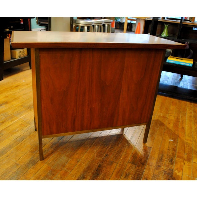 Small Mid-Century Walnut & Brass Bar - Image 5 of 8