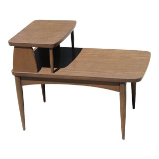 20th Century Danish Modern Step Table For Sale