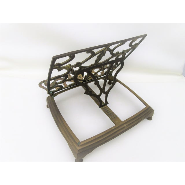 Adjustable Brass Easel Stand - Image 6 of 9