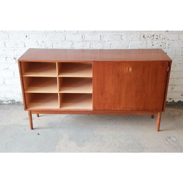 Danish Modern Teak Sideboard Credenza For Sale In South Bend - Image 6 of 10