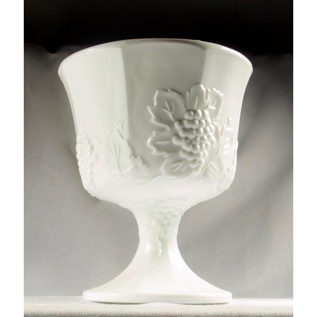 White 1950s Milk Glass Pedestal Urn / Planter For Sale - Image 8 of 8