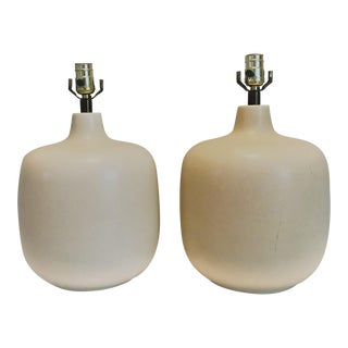 Pair of 1960s Bostlund Stoneware Table Lamps For Sale