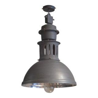 Industrial Steel Pendant by Jefferson For Sale