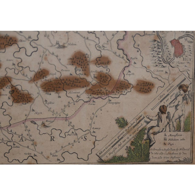 Wood 18th Century Map of the Historic County of Namur, Belgium For Sale - Image 7 of 9