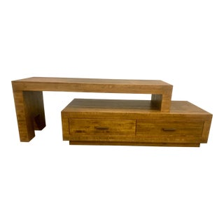 Solid Wood Media Console For Sale