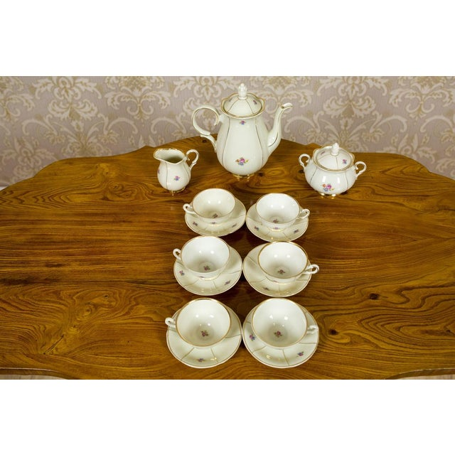 White 1918-1948 Karlskrona Porcelain Coffee Service for 6 - Set of 15 For Sale - Image 8 of 13