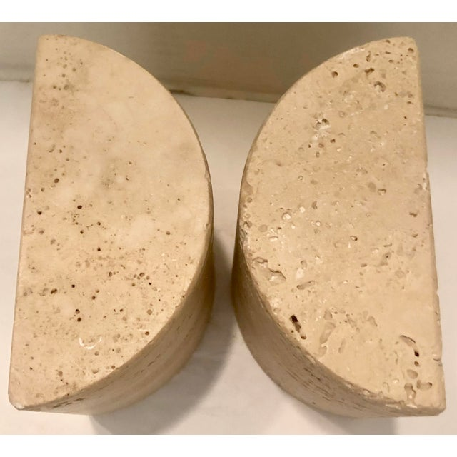 Italian Italian Travertine Bookends For Sale - Image 3 of 7
