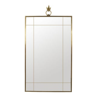 French Art Deco Rectangular Wall Mirror For Sale