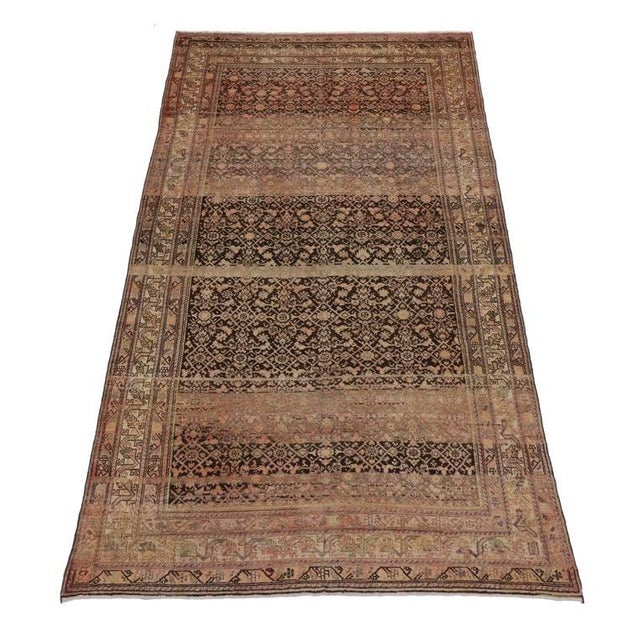Antique Persian Malayer Rug with Modern Design and Industrial Aesthetic For Sale - Image 5 of 7