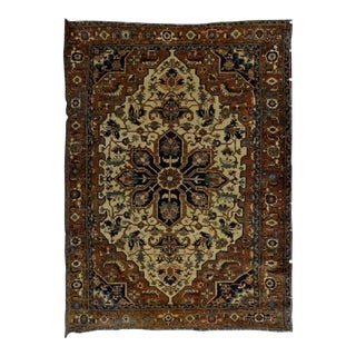 Early 20th Century Antique Persian Heriz Rug - 10′1″ × 13′5″ For Sale