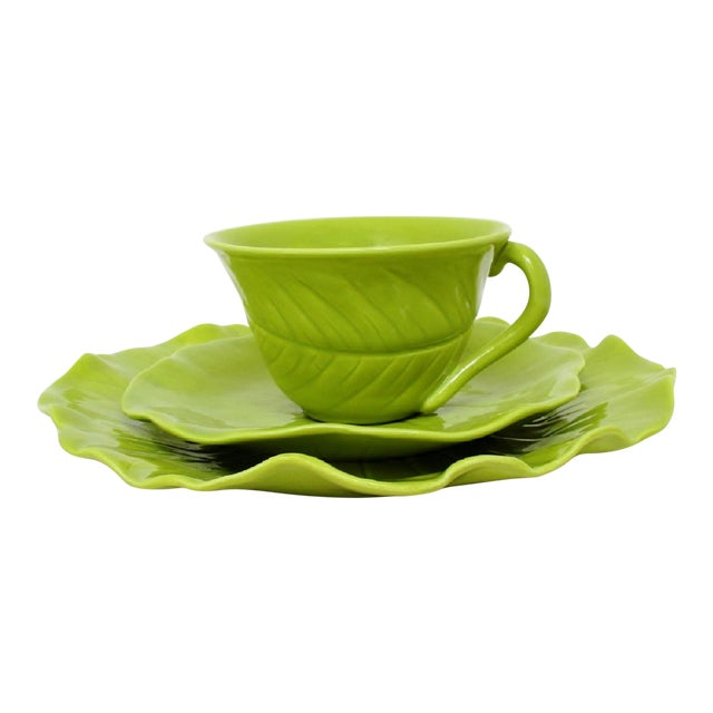 Chartreuse Porcelain Tea Service, 22 Pieces For Sale