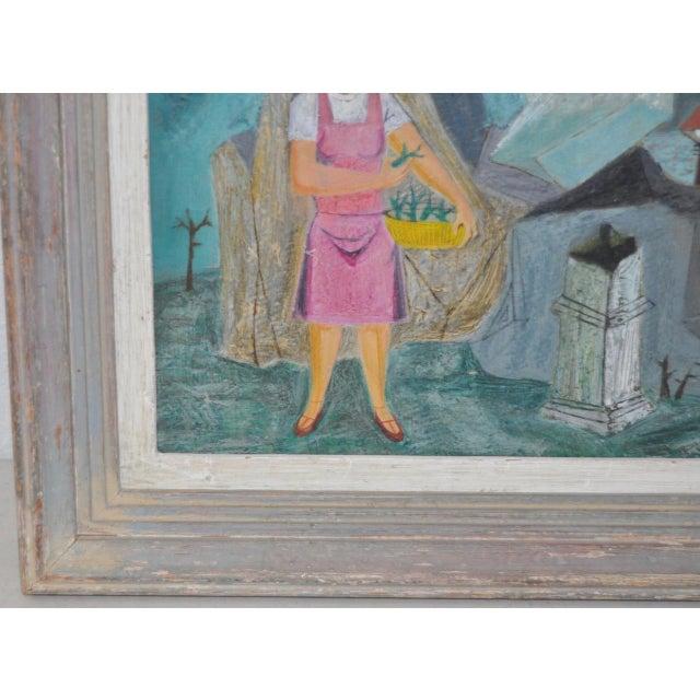 "Raymond Tom ""Domestic Surrealism"" Original Oil Painting c.1947 - Image 6 of 9"