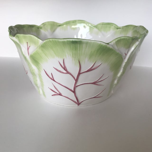 1980s Ceramic Cabbage Bowl For Sale - Image 10 of 10