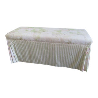Palm Beach Upholstered Bench For Sale