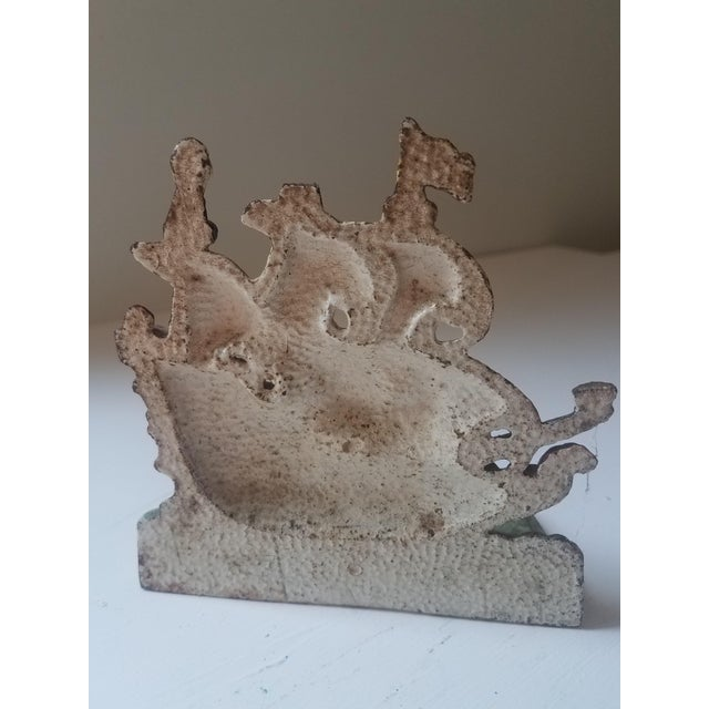 Traditional 1940s Traditional Iron Boat Door Stop For Sale - Image 3 of 5
