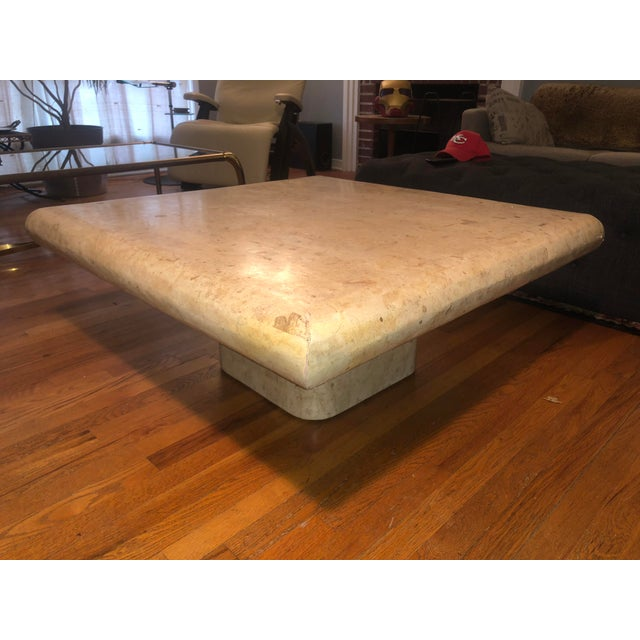 1970s Organic Modern Tesselated Fossilized Stone Coffee Table Karl Springer Style For Sale - Image 13 of 13