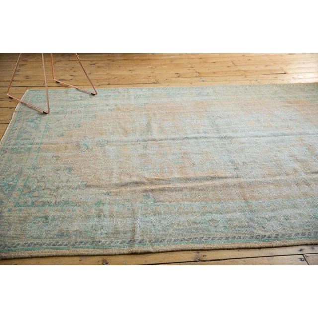 """Old New House Vintage Distressed Oushak Carpet - 6'4"""" X 9'10"""" For Sale - Image 4 of 12"""