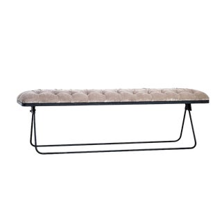 Classic Velvet Fabric Bench For Sale