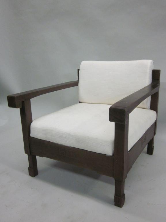 Pair Of French Colonial Lounge Chairs, Mid Century Modern, 1930 For Sale