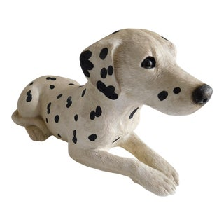 Vintage Hand-Painted and Hand Sand-Cast Dalmation Puppy For Sale