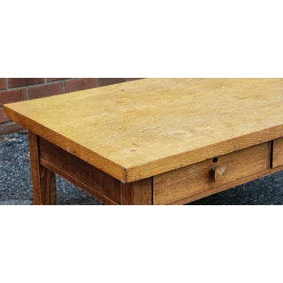 Antique Quartered Oak Arts & Crafts Mission 2 Drawer Coffee Table C1920 Preview