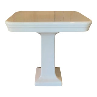 Antique French Porcelain Pedestal Wash Stand For Sale
