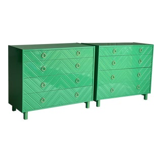 Vintage Heywood Wakefield Lacquered Chest Of Drawers-a Pair For Sale