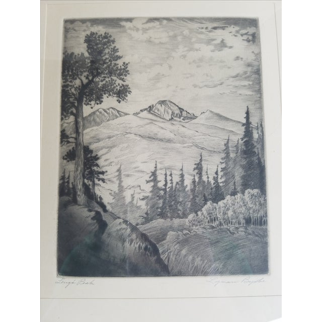 Long's Peak Etching by Lyman Byxbe - Image 3 of 6