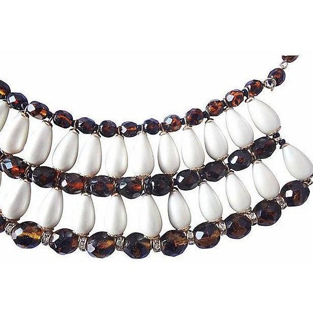 1960s Vendome Faux-Pearl Bib Necklace For Sale In Philadelphia - Image 6 of 8