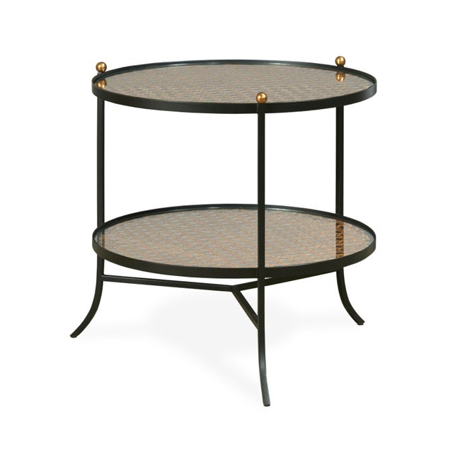 Modern Century Furniture Tom-Tom Round Side Table For Sale - Image 3 of 3