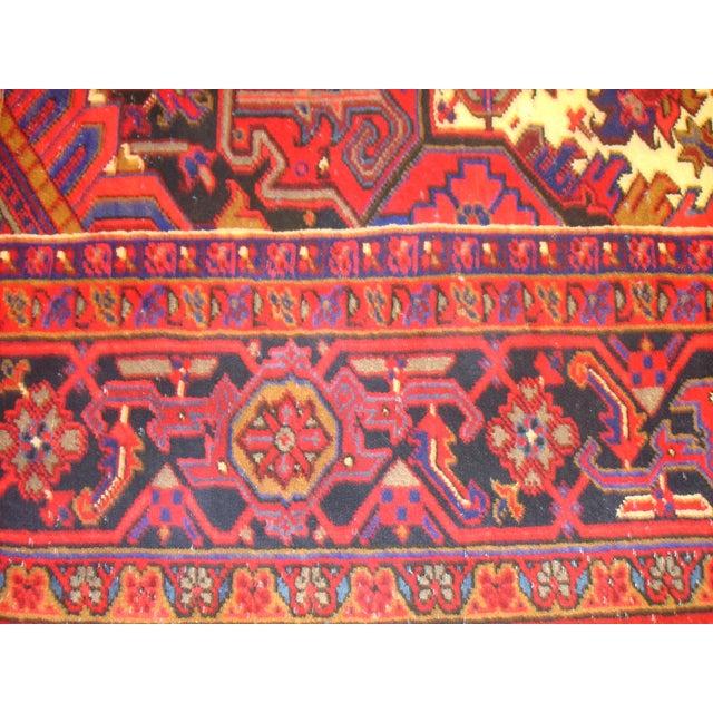 "Leon Banilivi Persian Heriz Rug - 12'10"" X 10'1"" For Sale - Image 5 of 6"