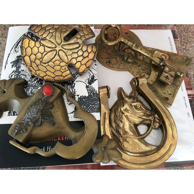 Lucky Horseshoe Brass Door Knocker - Image 3 of 5