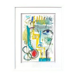 Lesley Grainger 'Mama Mia' Framed Original Face Painting For Sale