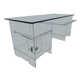 "20th C Modernist Lucite ""Ghost"" Desk For Sale"