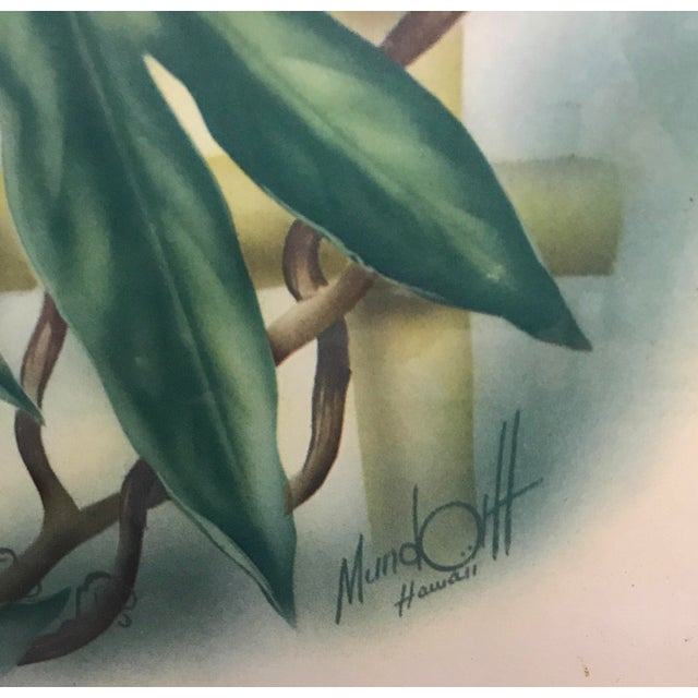 Mid Century Lotus Botanical Print by Ted Mundorff For Sale - Image 4 of 11