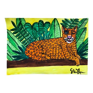 """""""Cheetah in the Jungle Winking"""" Painting For Sale"""