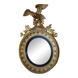 18th Century Eagle Convex Mirror For Sale